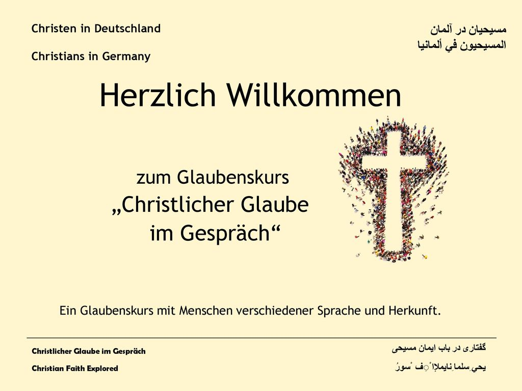 Christen in Deutschland Christians in Germany