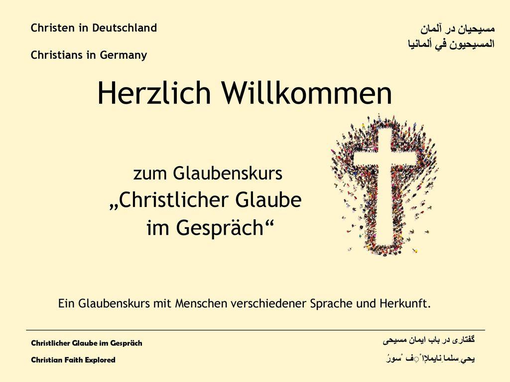 Christen in Deutschland Christians in Germany
