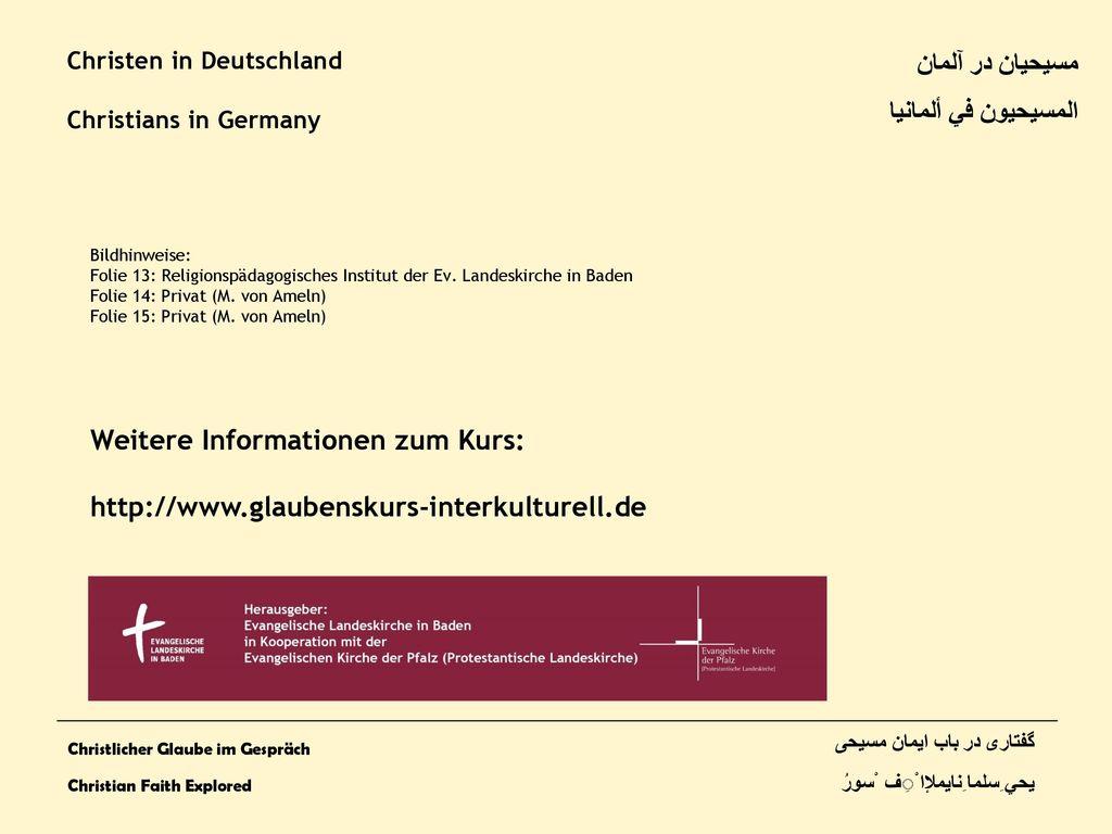 Weitere Informationen zum Kurs:
