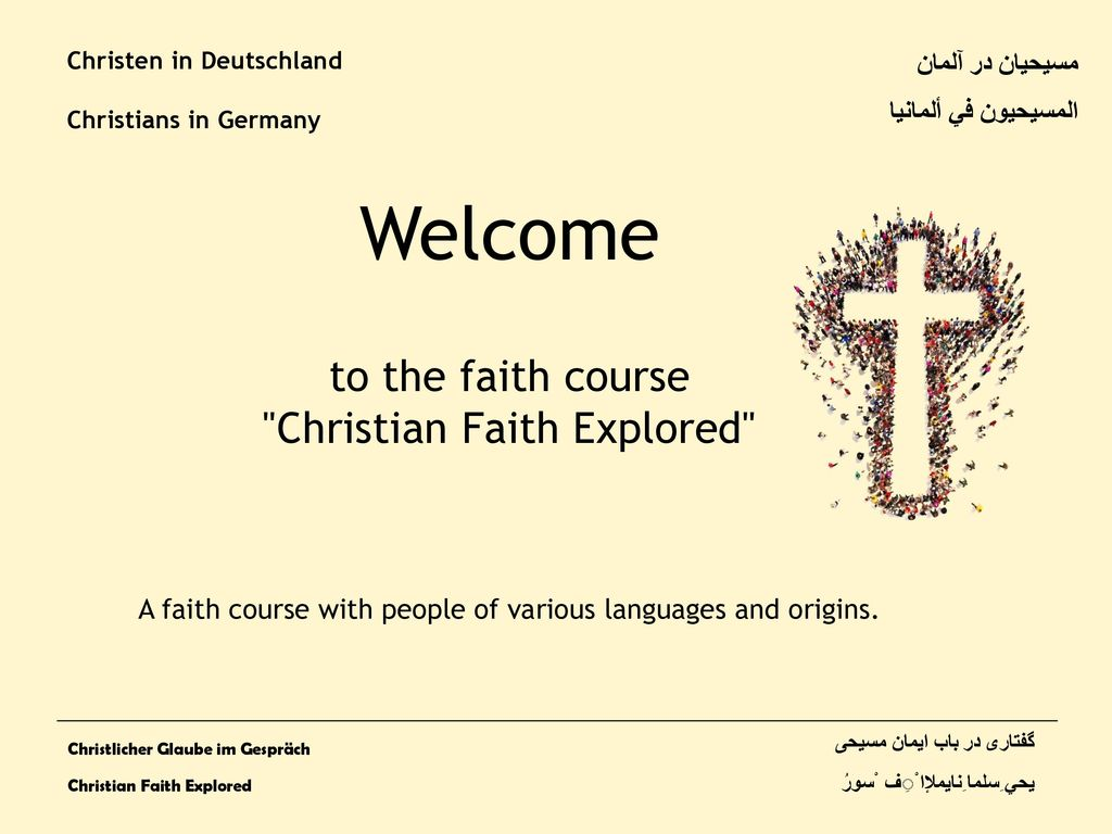 Welcome to the faith course Christian Faith Explored