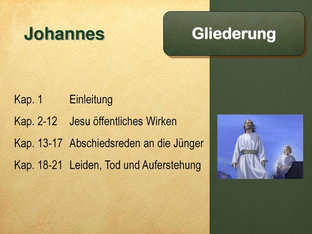 Johannes Gliederung Kap. 1 Einleitung