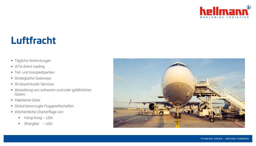 Luftfracht Tägliche Verbindungen IATA direct loading