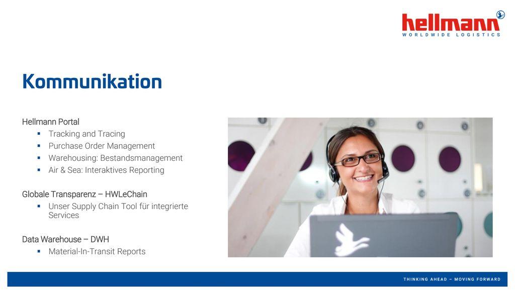 Kommunikation Hellmann Portal Tracking and Tracing