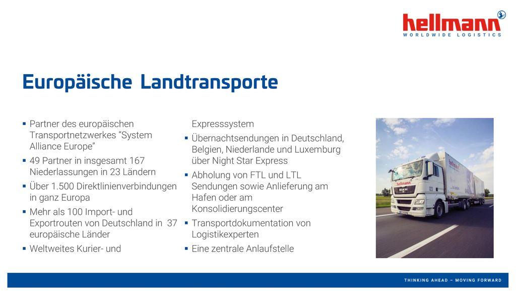 Europäische Landtransporte
