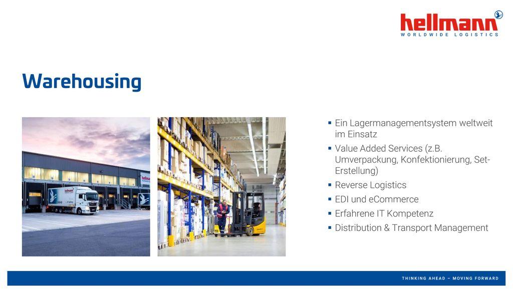 Warehousing Ein Lagermanagementsystem weltweit im Einsatz