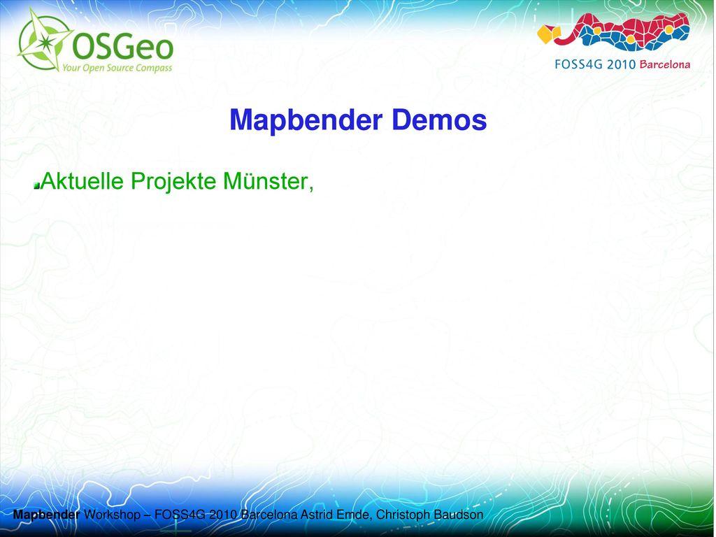 Mapbender Demos Aktuelle Projekte Münster,
