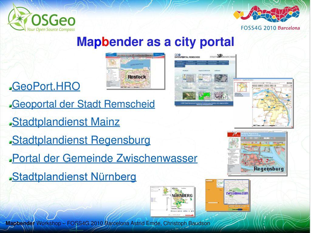 Mapbender as a city portal