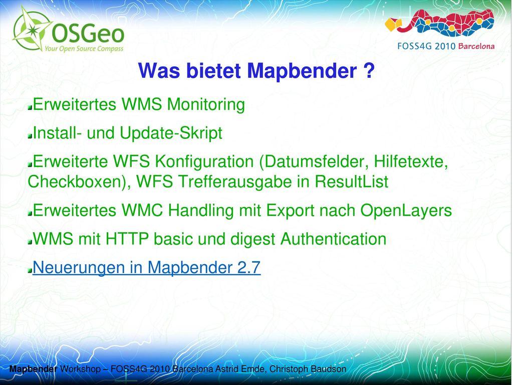 Was bietet Mapbender Erweitertes WMS Monitoring