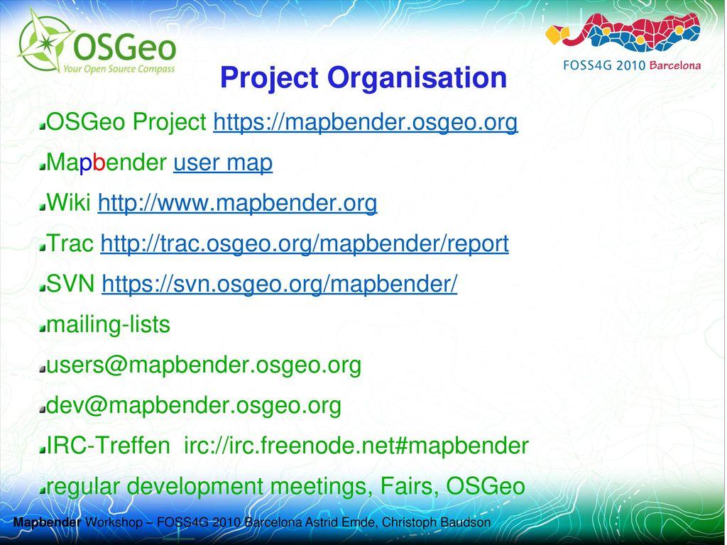 Project Organisation OSGeo Project https://mapbender.osgeo.org