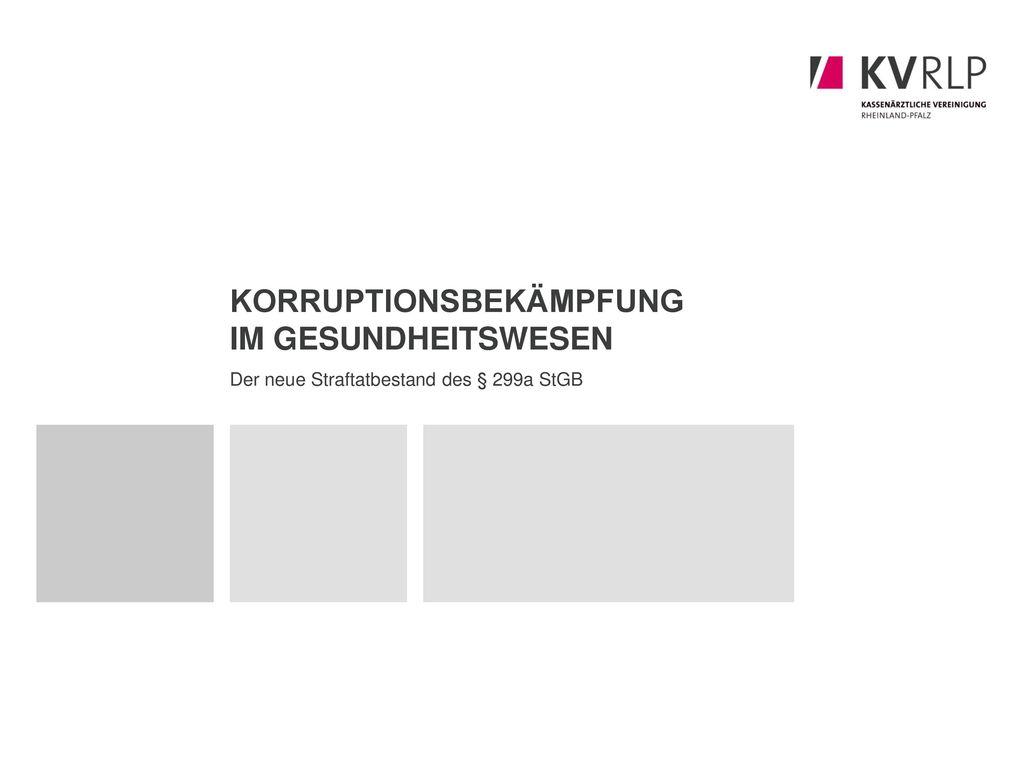 Korruptionsbekämpfung im Gesundheitswesen