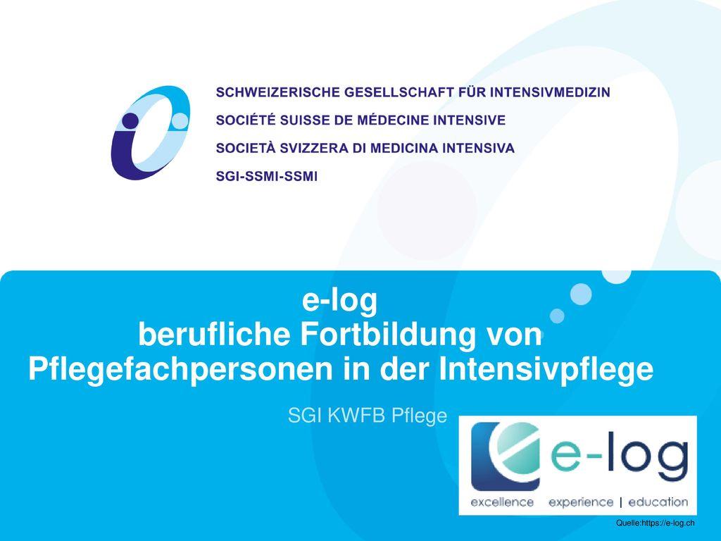 e-log berufliche Fortbildung von Pflegefachpersonen in der Intensivpflege