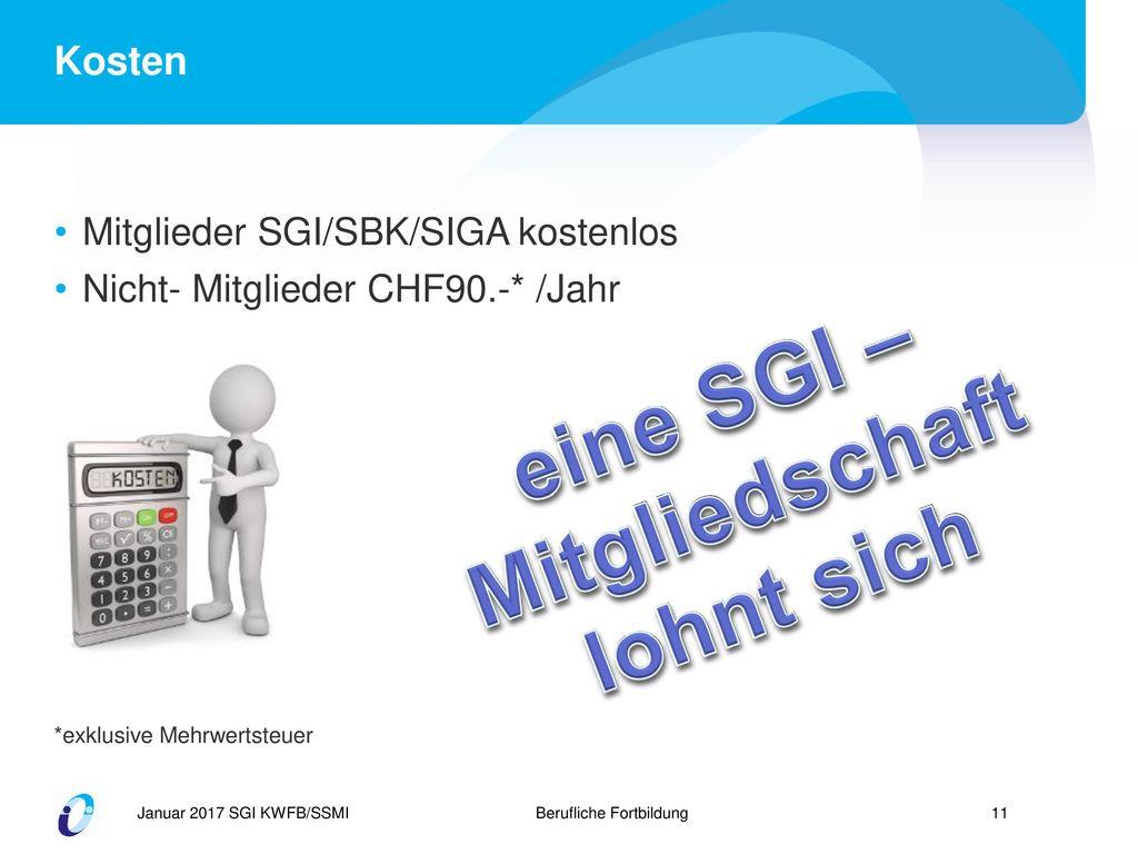 eine SGI – Mitgliedschaft
