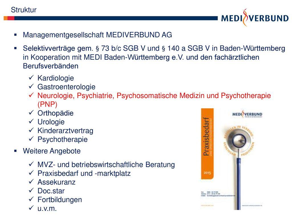 Struktur Managementgesellschaft MEDIVERBUND AG.