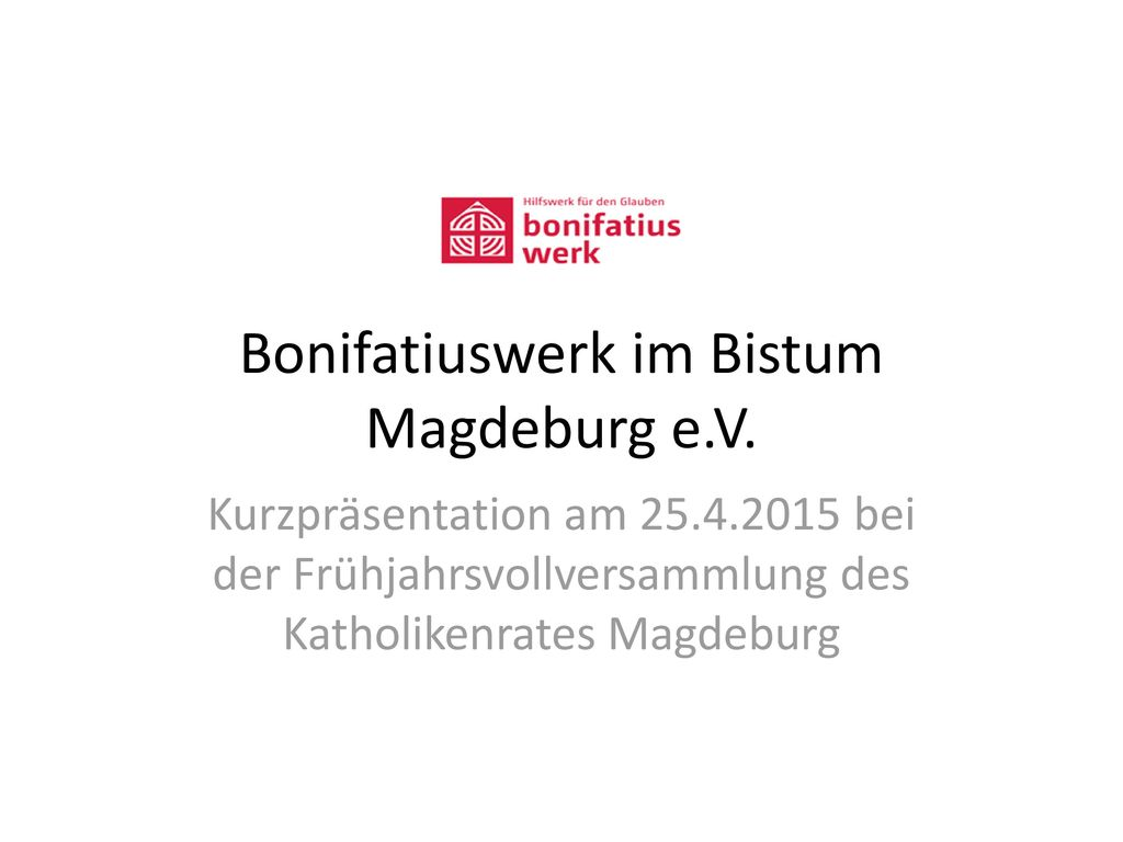 Bonifatiuswerk im Bistum Magdeburg e.V.