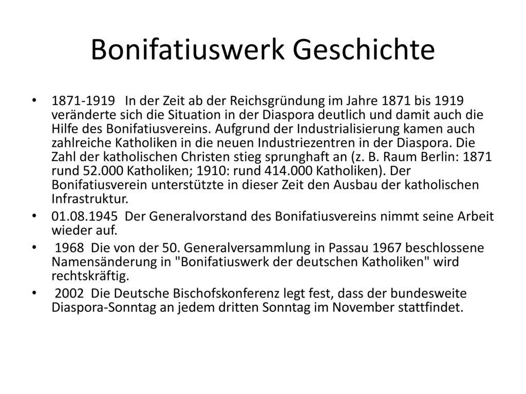 Bonifatiuswerk Geschichte