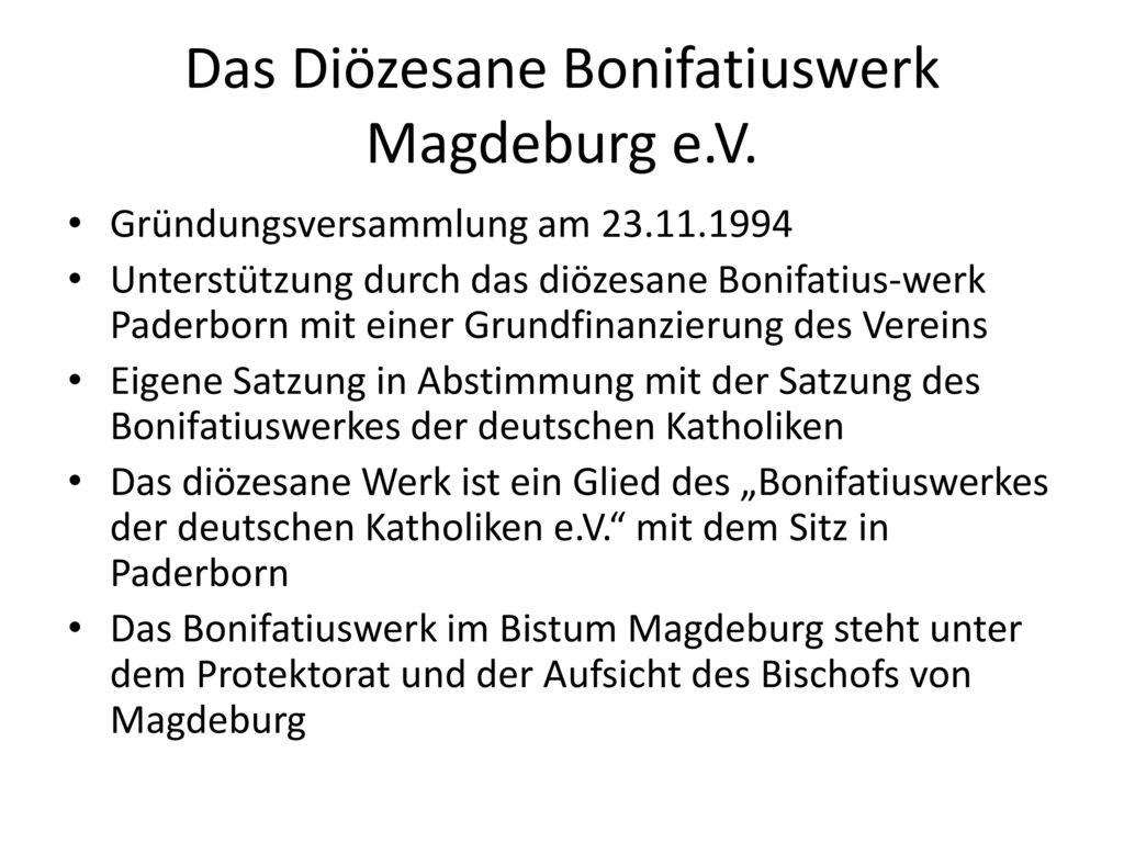 Das Diözesane Bonifatiuswerk Magdeburg e.V.