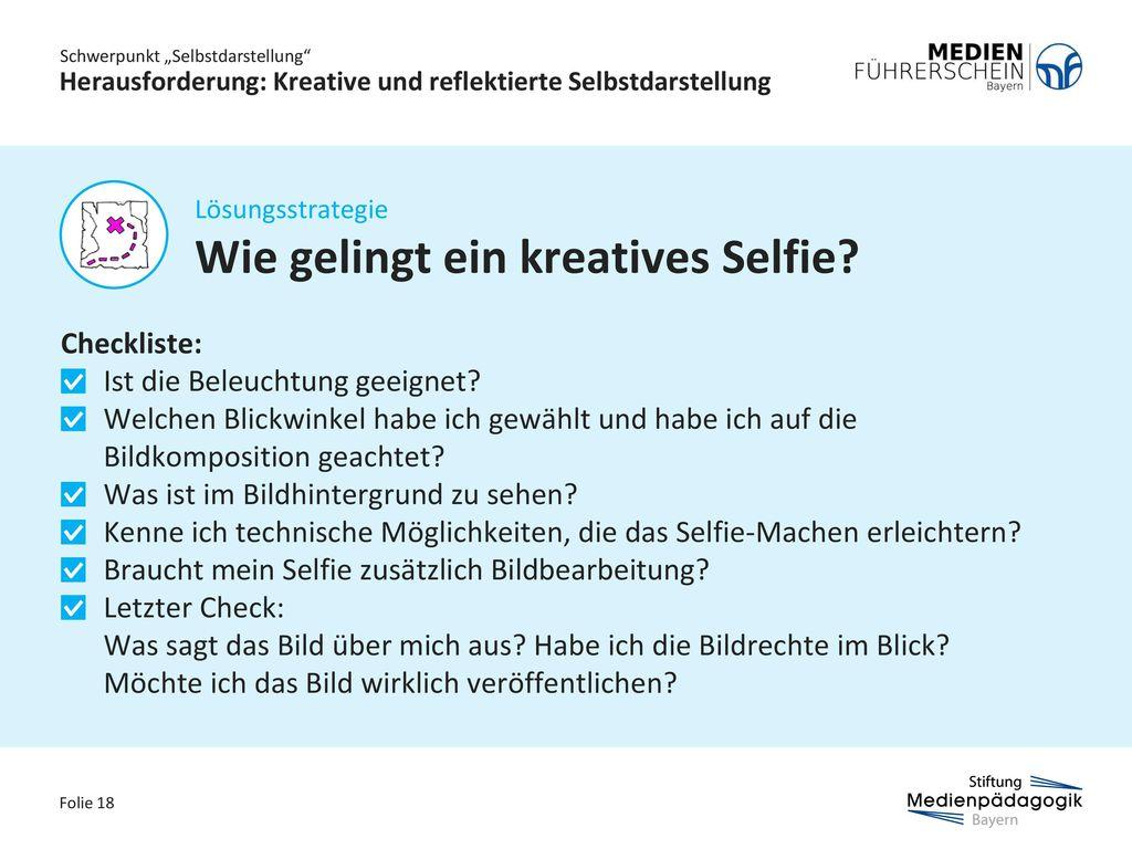 Herausforderung: Kreative und reflektierte Selbstdarstellung