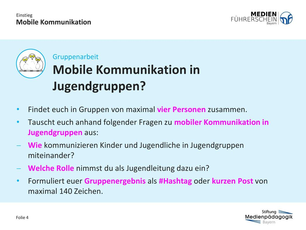 Mobile Kommunikation in Jugendgruppen