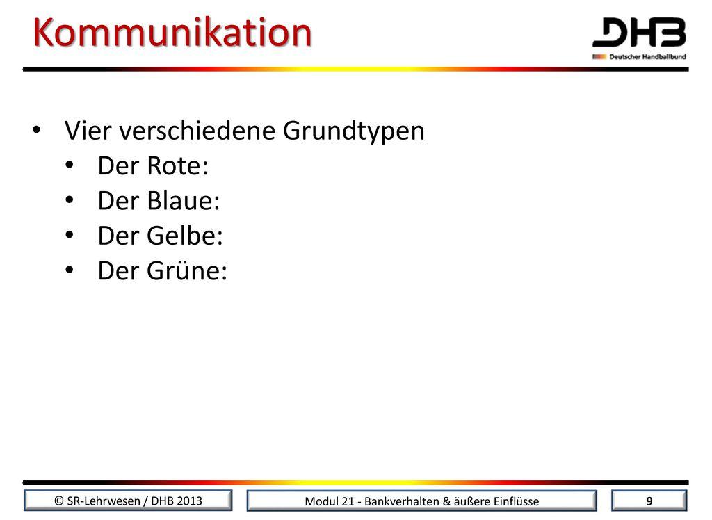 Kommunikation Vier verschiedene Grundtypen