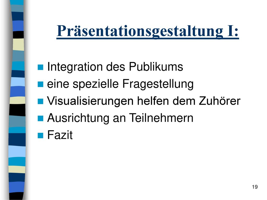 Präsentationsgestaltung I: