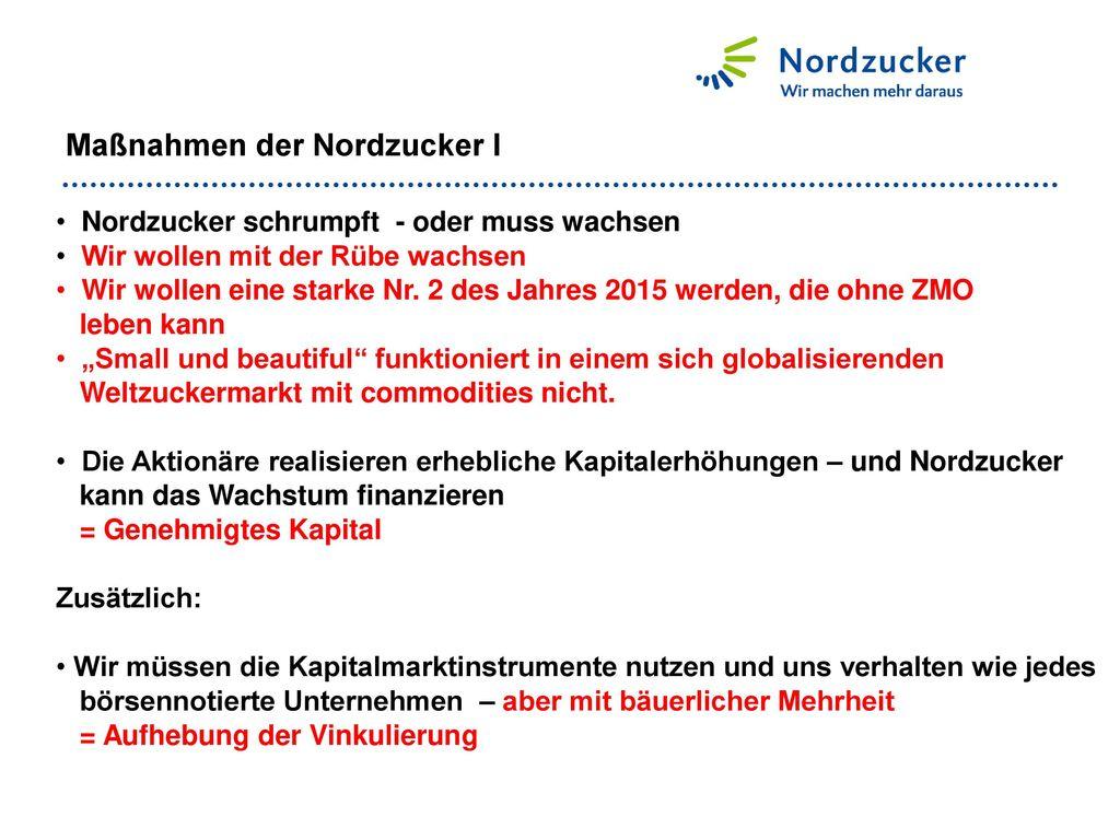 Maßnahmen der Nordzucker I