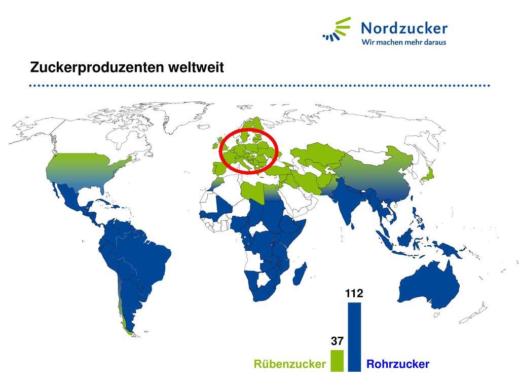 Zuckerproduzenten weltweit