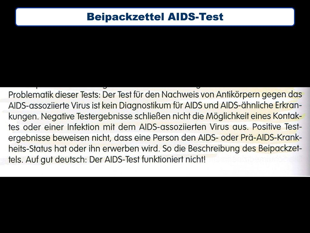 Beipackzettel AIDS-Test