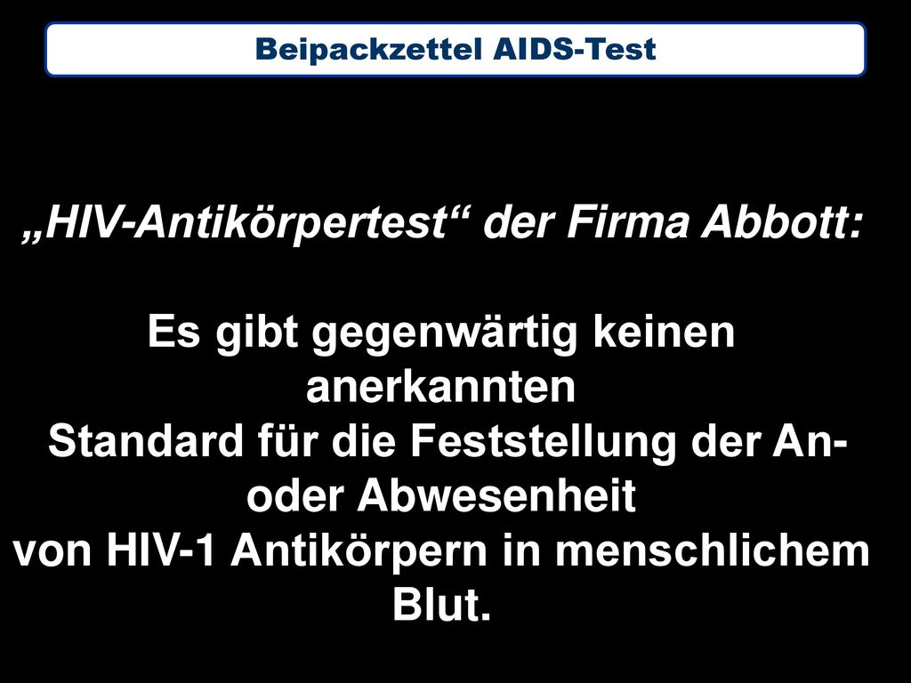 """HIV-Antikörpertest der Firma Abbott:"
