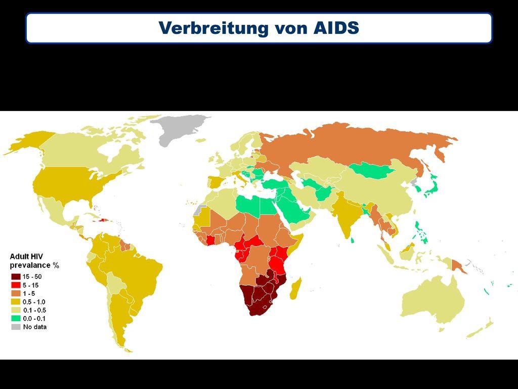 Verbreitung von AIDS
