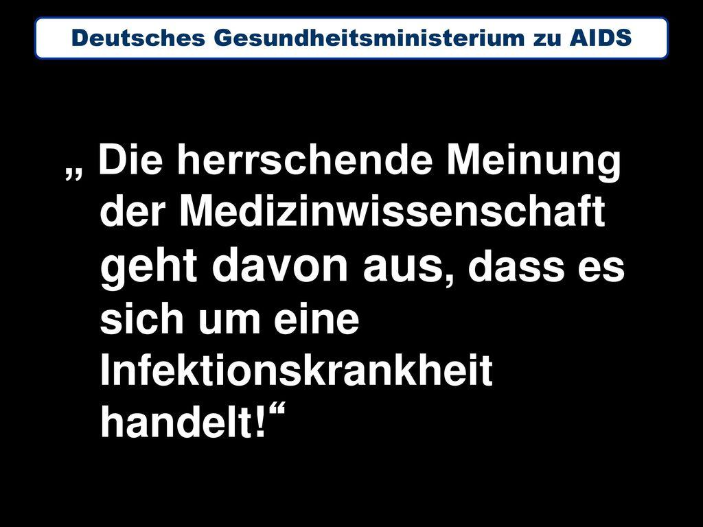 Deutsches Gesundheitsministerium zu AIDS