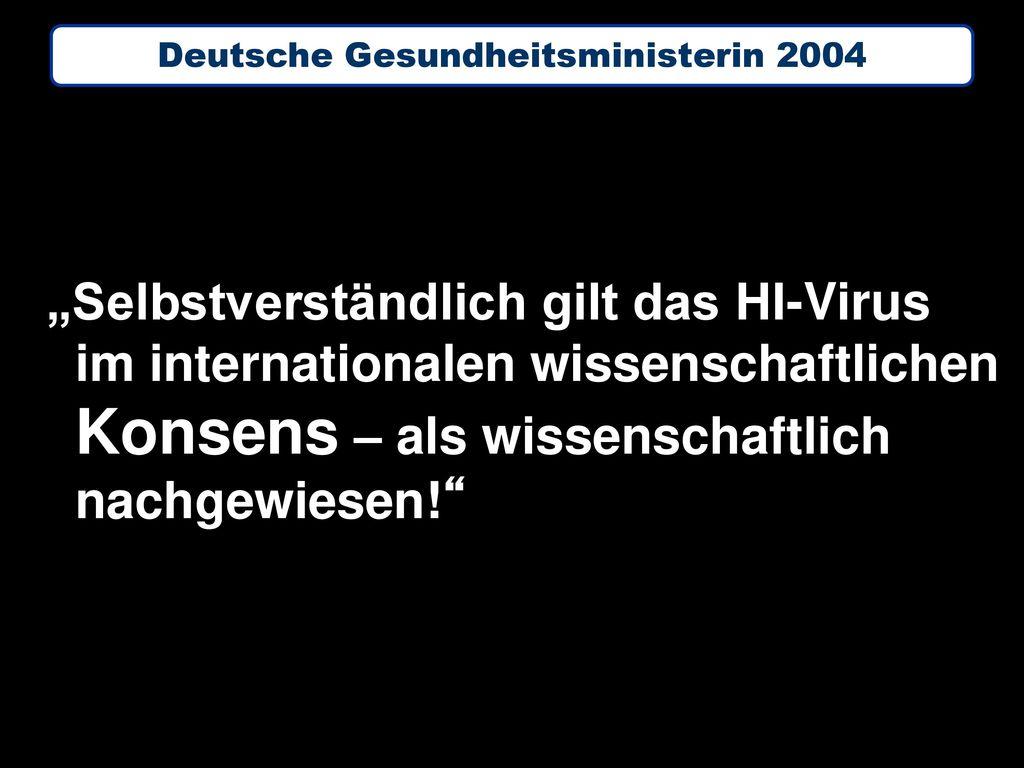 Deutsche Gesundheitsministerin 2004