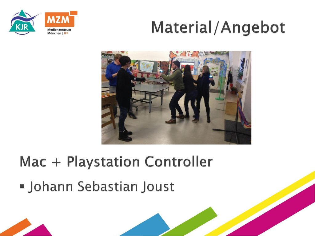 Material/Angebot Mac + Playstation Controller Johann Sebastian Joust