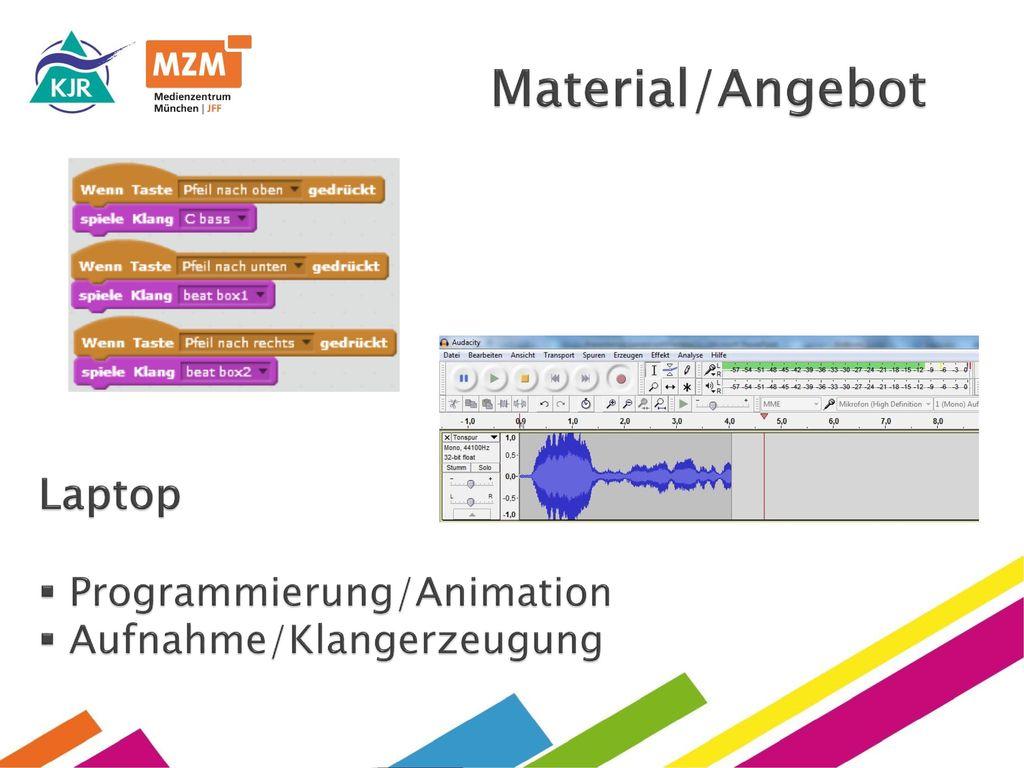 Material/Angebot Laptop Programmierung/Animation