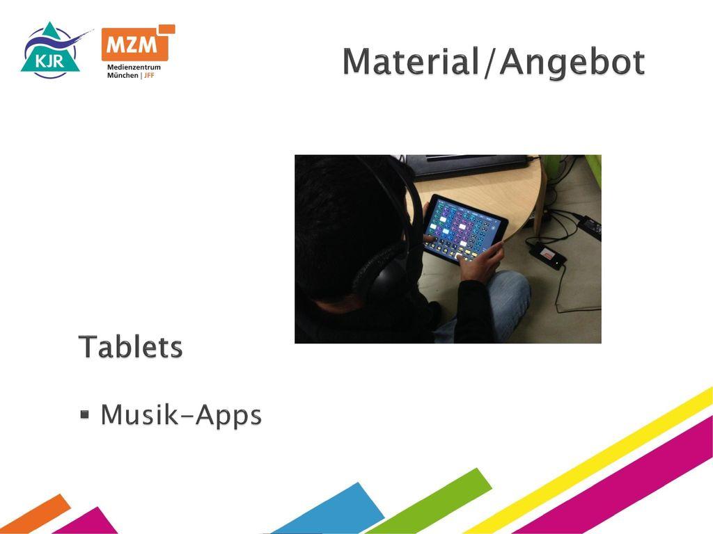 Material/Angebot Tablets Musik-Apps