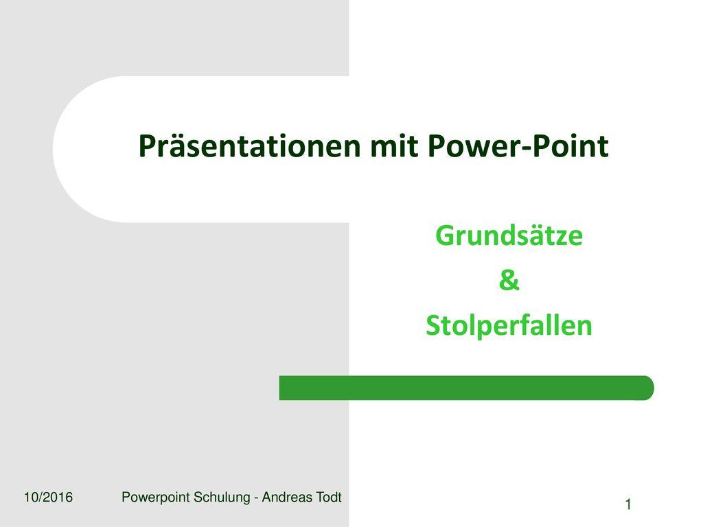 Präsentationen mit Power-Point