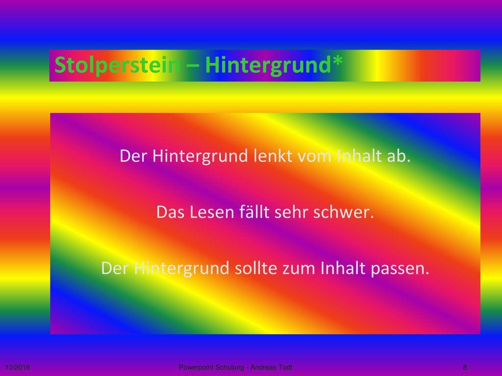Stolperstein – Hintergrund*