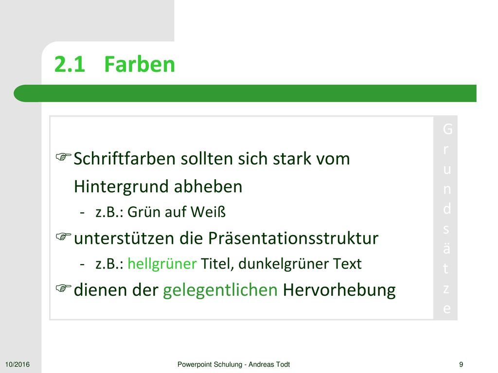 Powerpoint Schulung - Andreas Todt
