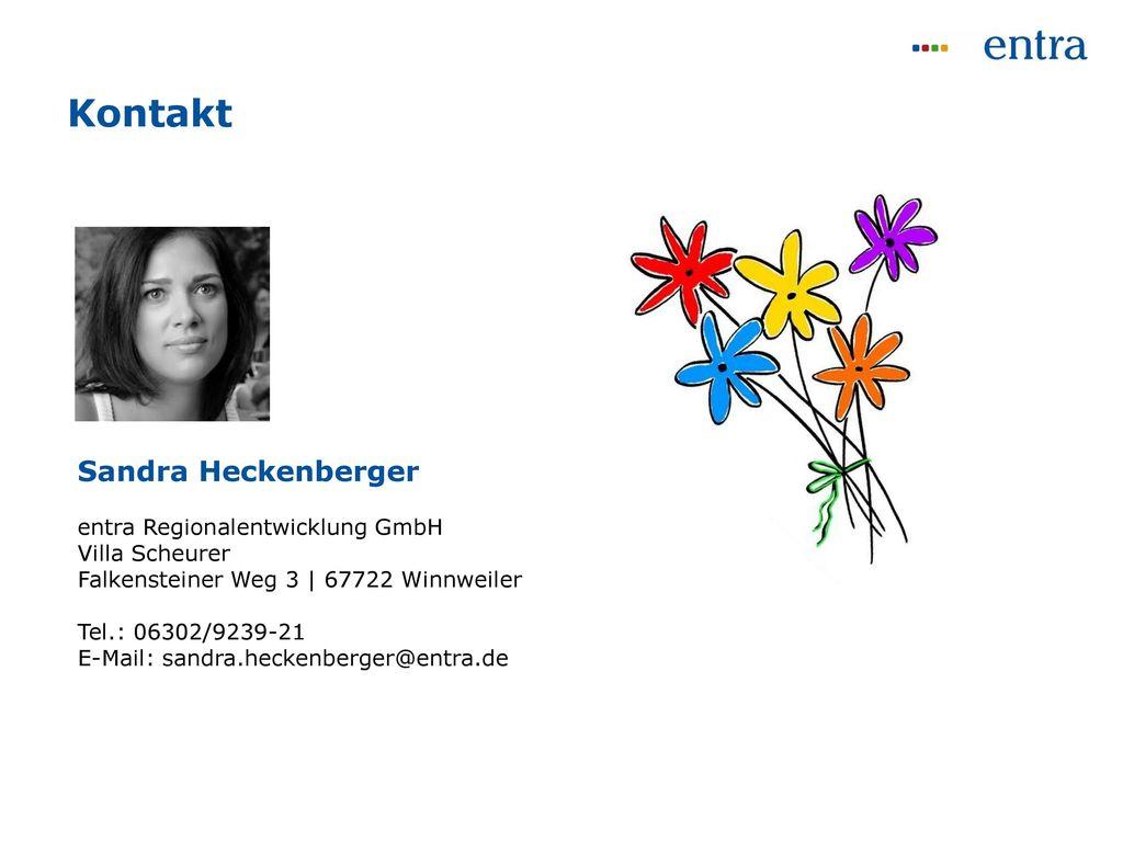 Kontakt Sandra Heckenberger entra Regionalentwicklung GmbH