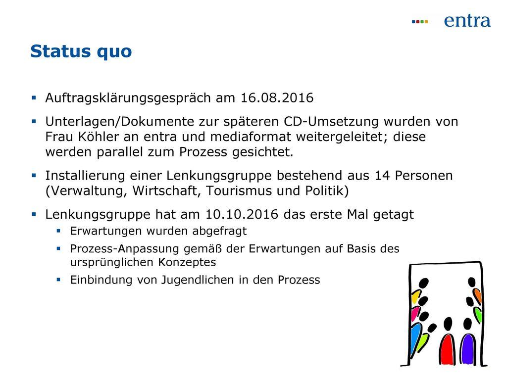 Status quo Auftragsklärungsgespräch am 16.08.2016