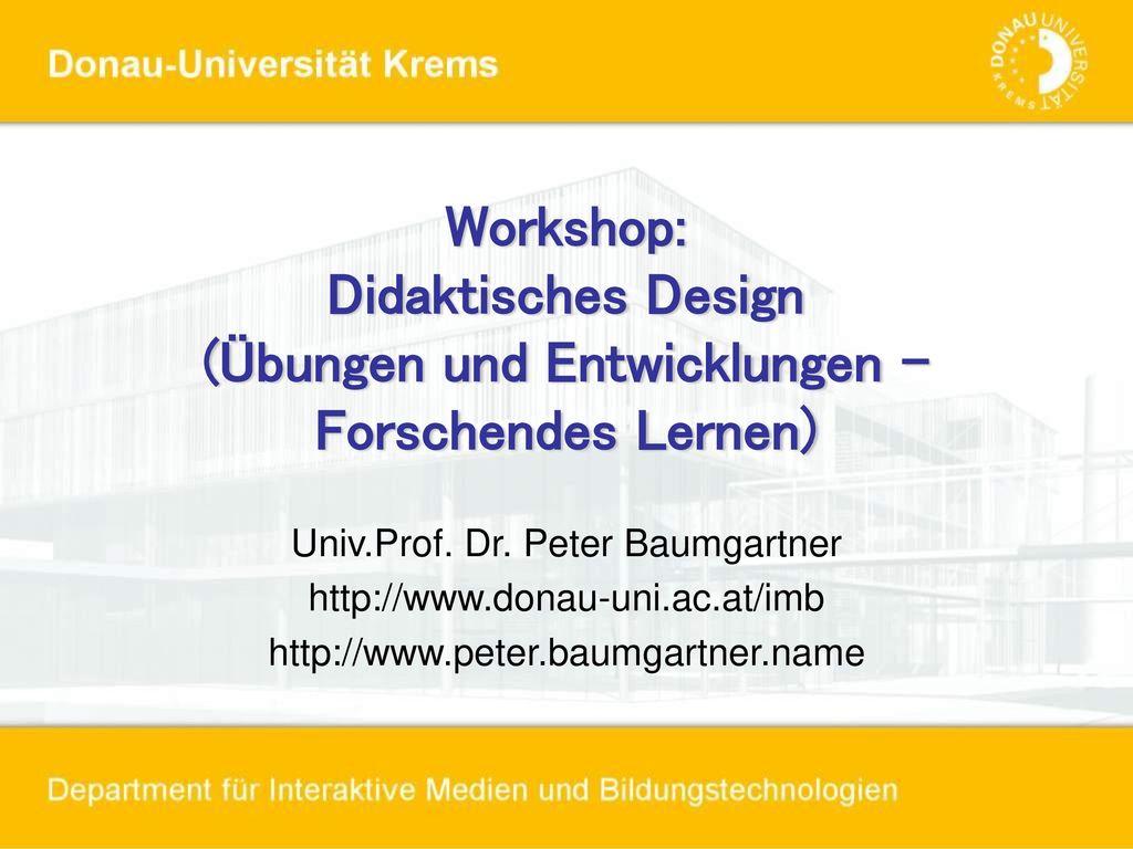 Univ.Prof. Dr. Peter Baumgartner