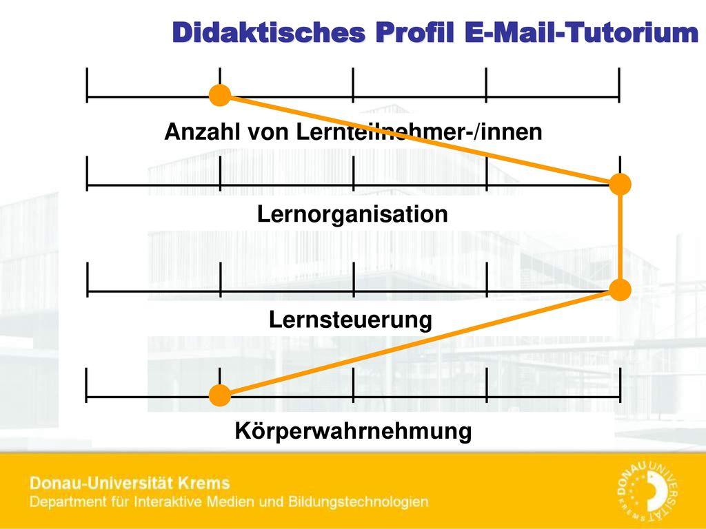 Didaktisches Profil E-Mail-Tutorium