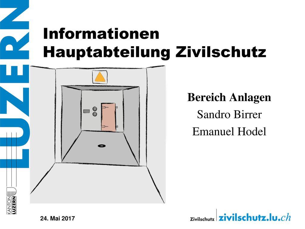 Informationen Hauptabteilung Zivilschutz