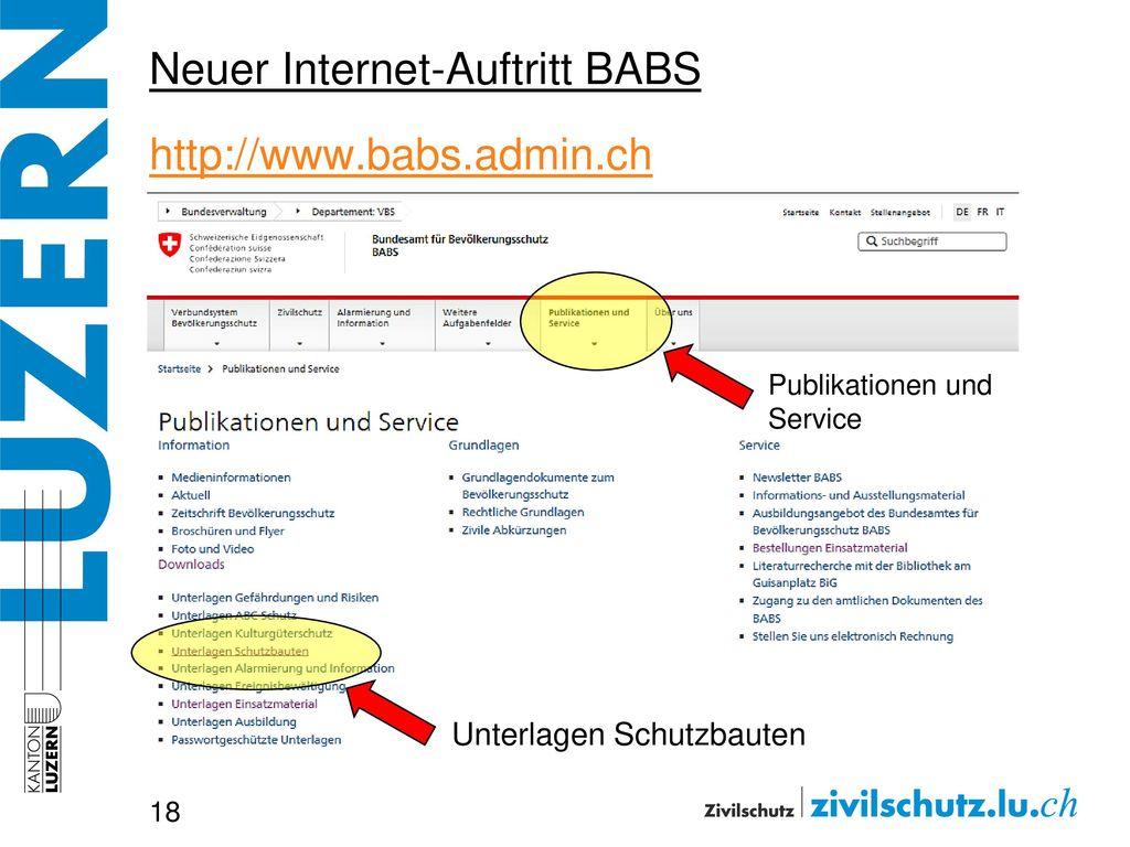 Neuer Internet-Auftritt BABS