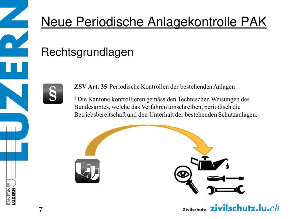 Neue Periodische Anlagekontrolle PAK Rechtsgrundlagen