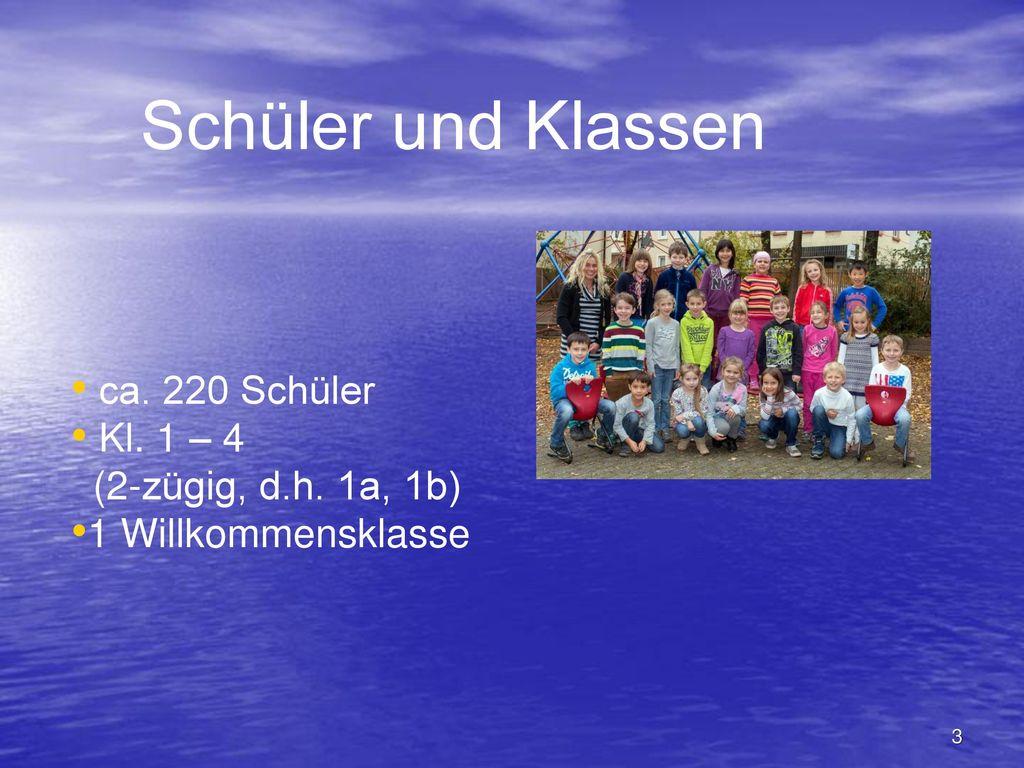 Schüler und Klassen ca. 220 Schüler Kl. 1 – 4 (2-zügig, d.h. 1a, 1b)