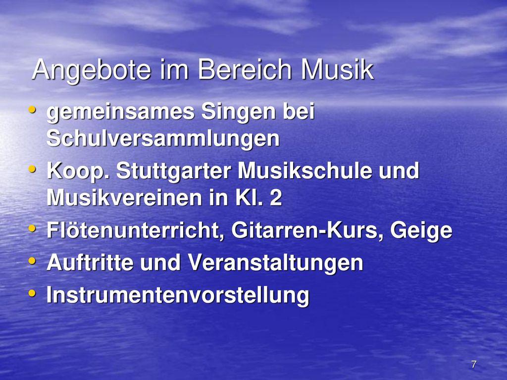 Angebote im Bereich Musik