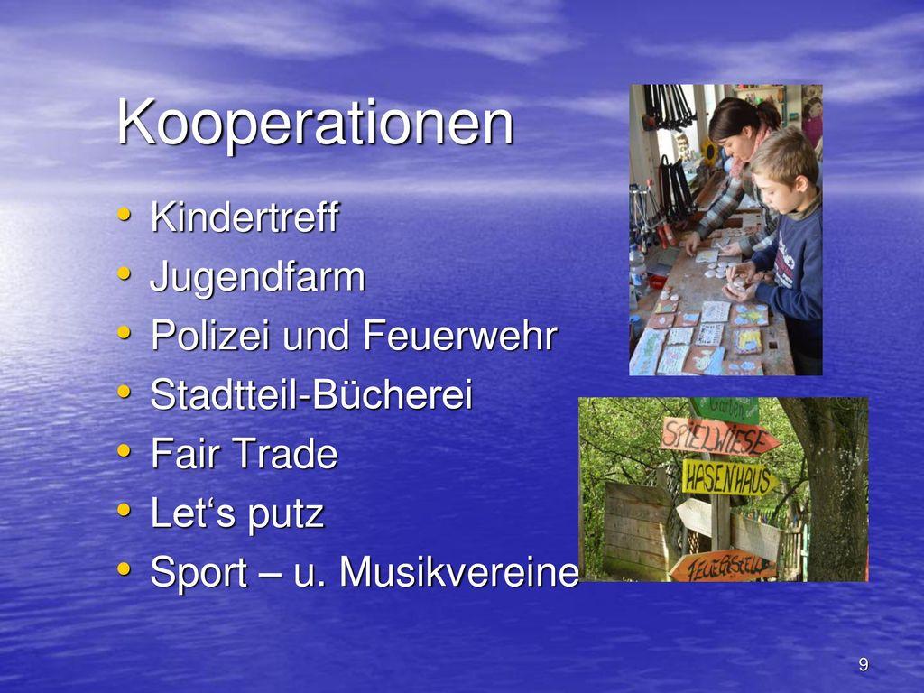 Kooperationen Kindertreff Jugendfarm Polizei und Feuerwehr