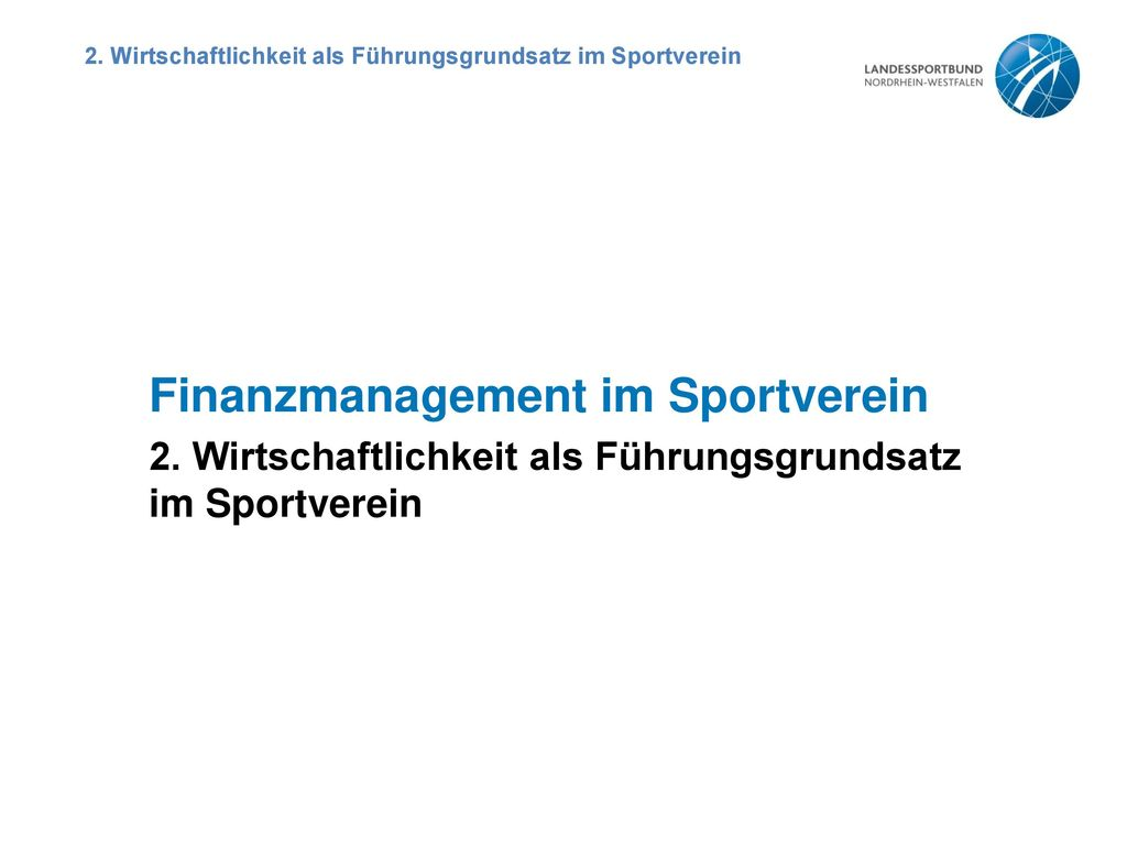 Finanzmanagement im Sportverein