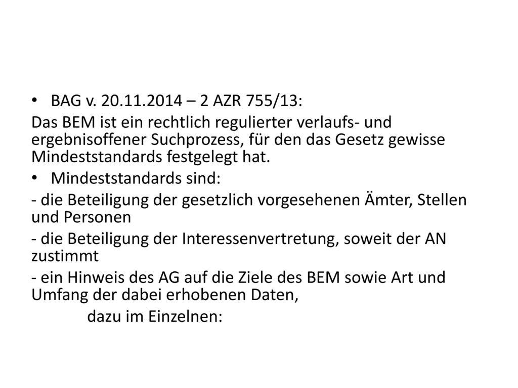BAG v. 20.11.2014 – 2 AZR 755/13: