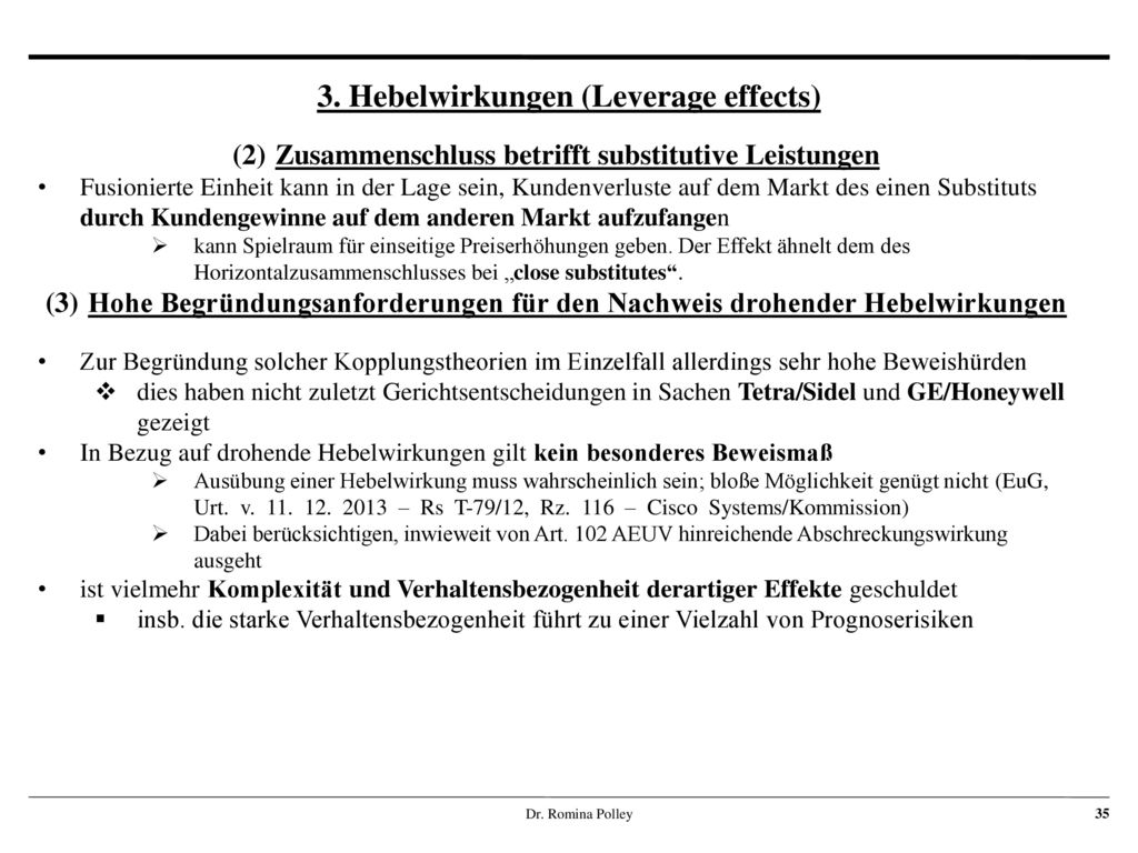 3. Hebelwirkungen (Leverage effects)